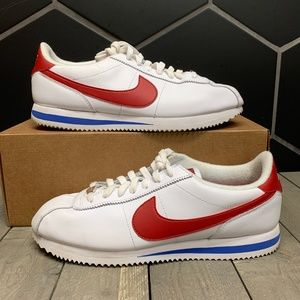 Nike Cortez Basic Leather Forest Gump White Shoes
